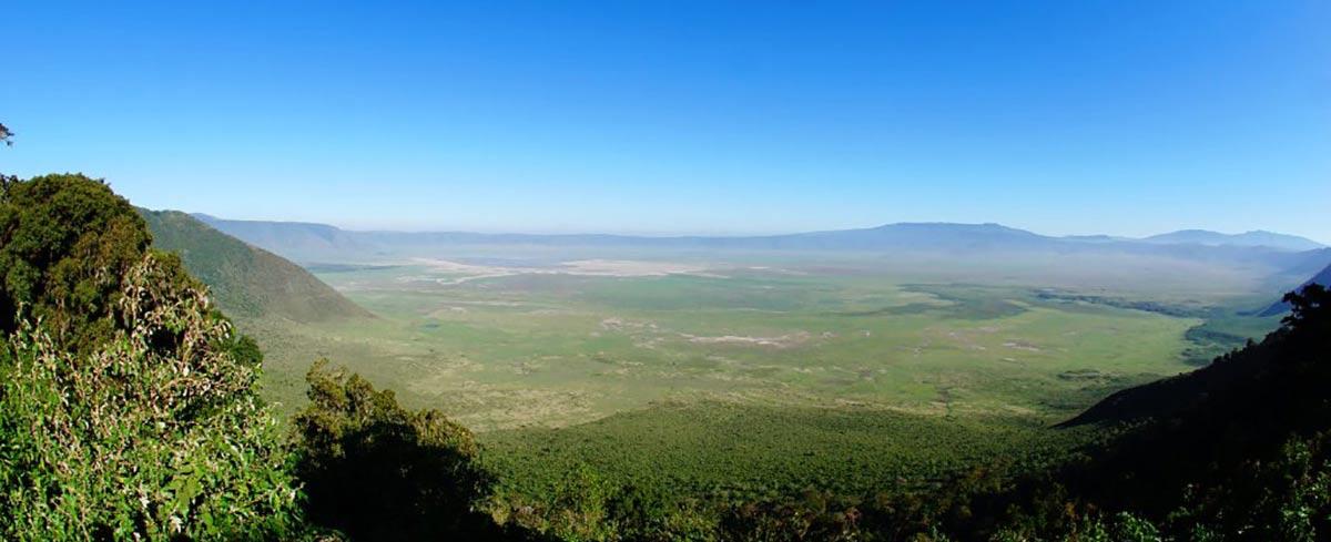 View crater floor Ngorongoro Crater Tanzania