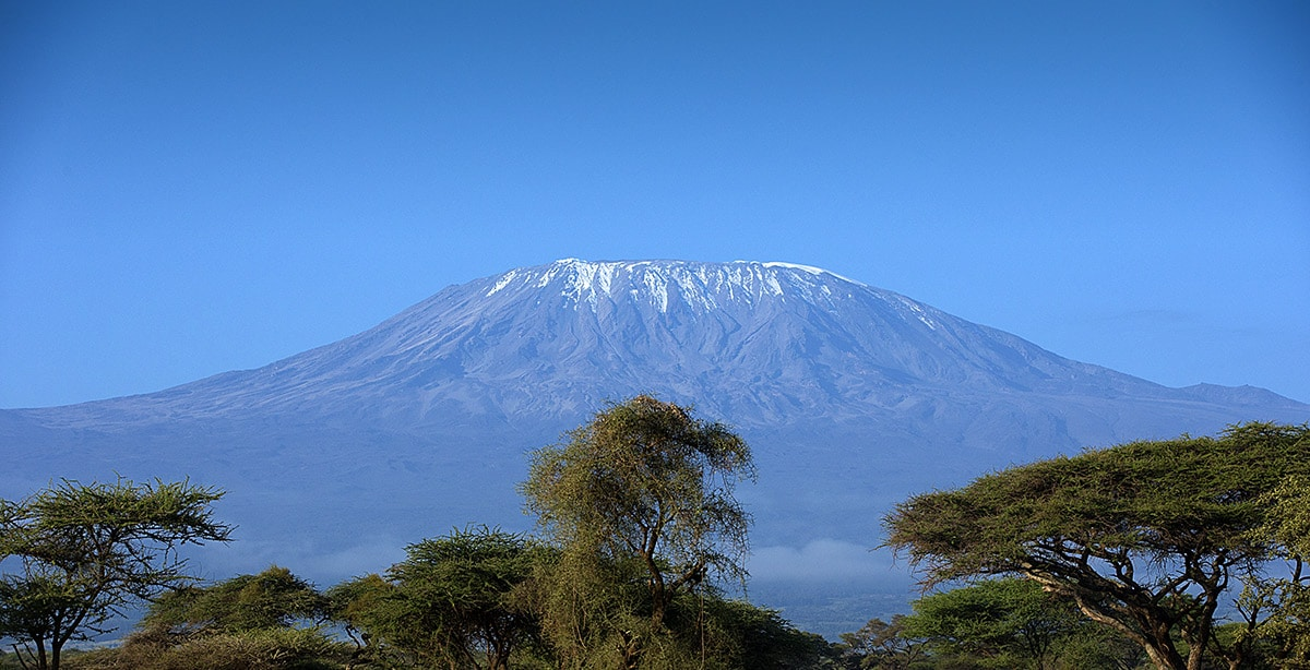 View of Mount Kilimanjaro active safari Tanzania
