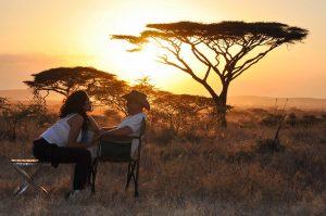 Couple on Honeymoon Safari