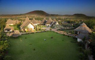 Drone View of Farm of Dream Lodge