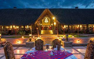 Lake Manyara Kilimamoja Lodge Night Exterior Dinner