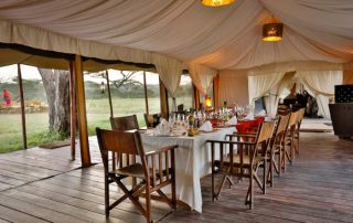 Restaurant at Lemara Mara Camp