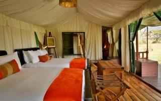 Lemala Mara Camp King Twin Beds