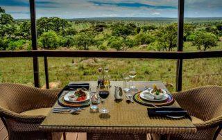 Room Table Setup at Lemala Lodge