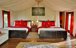 Lemala Ngorongoro Tented Camp Twin Bedroom