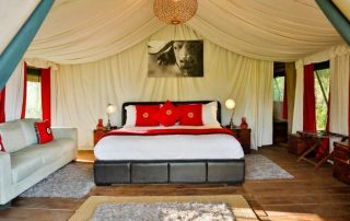 King Bedroom at Lemala Ngorongoro Tented Camp