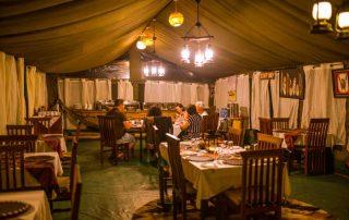 Main Tent Dinner Setup & Restaurant