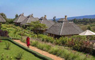 Neptune Ngorongoro Luxury Lodge Aerial View