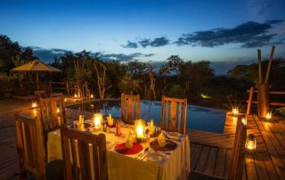 Dinner at Tarangire Treetops