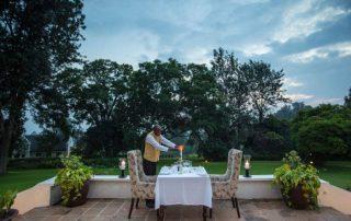 The Manor at Ngorongoro Night Dinner Setup