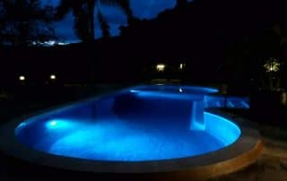 Night View of The Simming Pool