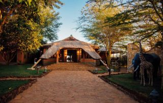 Escarpment Luxury Lodge Entrance