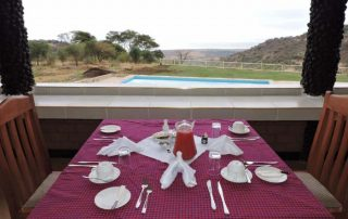 Restaurant with a view at Flamingo ChemChem Luxury Lodge