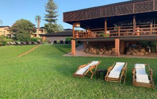 Garden and Sundeck at Lake Manyara Wildlife Lodge
