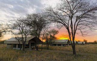 Kati Kati Tented Camp View on Sunset