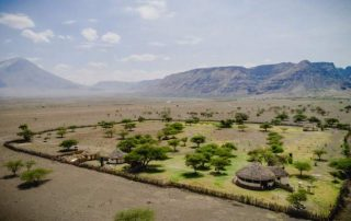Maasai Giraffe Eco Lodge Aerial View