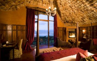 The View of Ngorongoro Crater from The Room