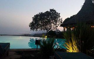 Sunset from the pool at Lake Manyara Serena Safari Lodge
