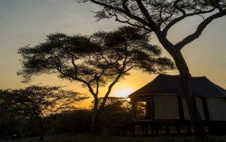 Sunset at Lake Masek Tented Lodge