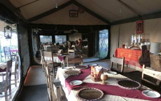 Tanzania Bush Camp Restaurant and Dinner Tent