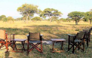 View across open savana at Corfield Camps Tarangire